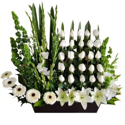 Arreglo de flores fúnebres